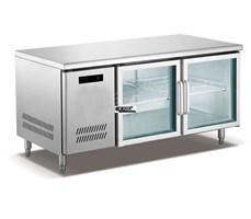 Bàn mát, bàn lạnh 2 cánh kính (cửa kéo) OKASU OKA-2CK