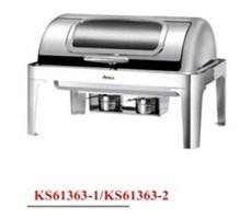 Nồi hâm buffet chữ nhật chân inox (nắp PC)-KS61363-2