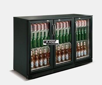 Tủ lạnh quầy bar mini 3 cánh kính OKASU SC-308F