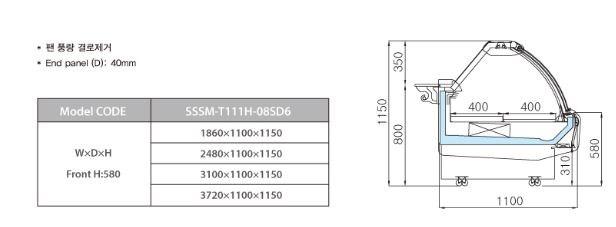 tu trung bay sieu thi southwind sssm-t111h-08sd6 hinh 0