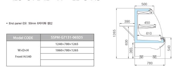 tu trung bay sieu thi southwind sspm-g7131-06sd5 hinh 0