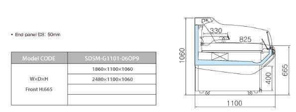 tu trung bay sieu thi southwind sdsm-g1101-06op9 hinh 0