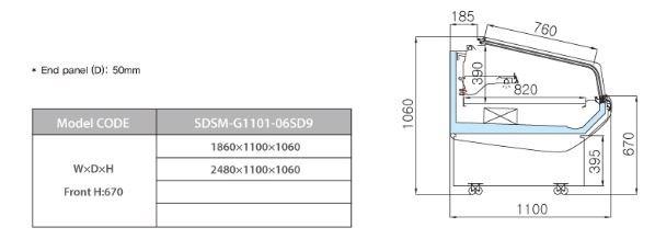 tu trung bay sieu thi southwind sdsm-g1101-06sd9 hinh 0