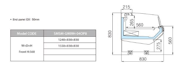 tu trung bay sieu thi southwind smsm-g909h-04op8 hinh 0