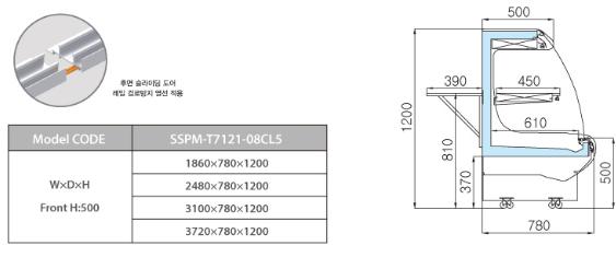 tu trung bay sieu thi southwind sspm-t7121-08cl5 hinh 0
